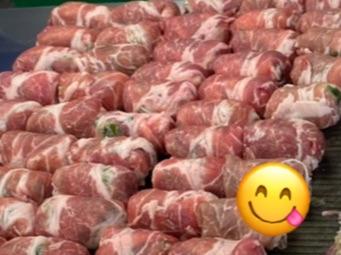 十豚巻き製造中